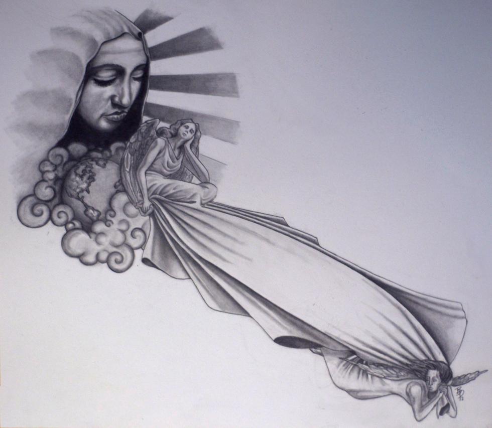 Heaven Sleeve Tattoo Designs